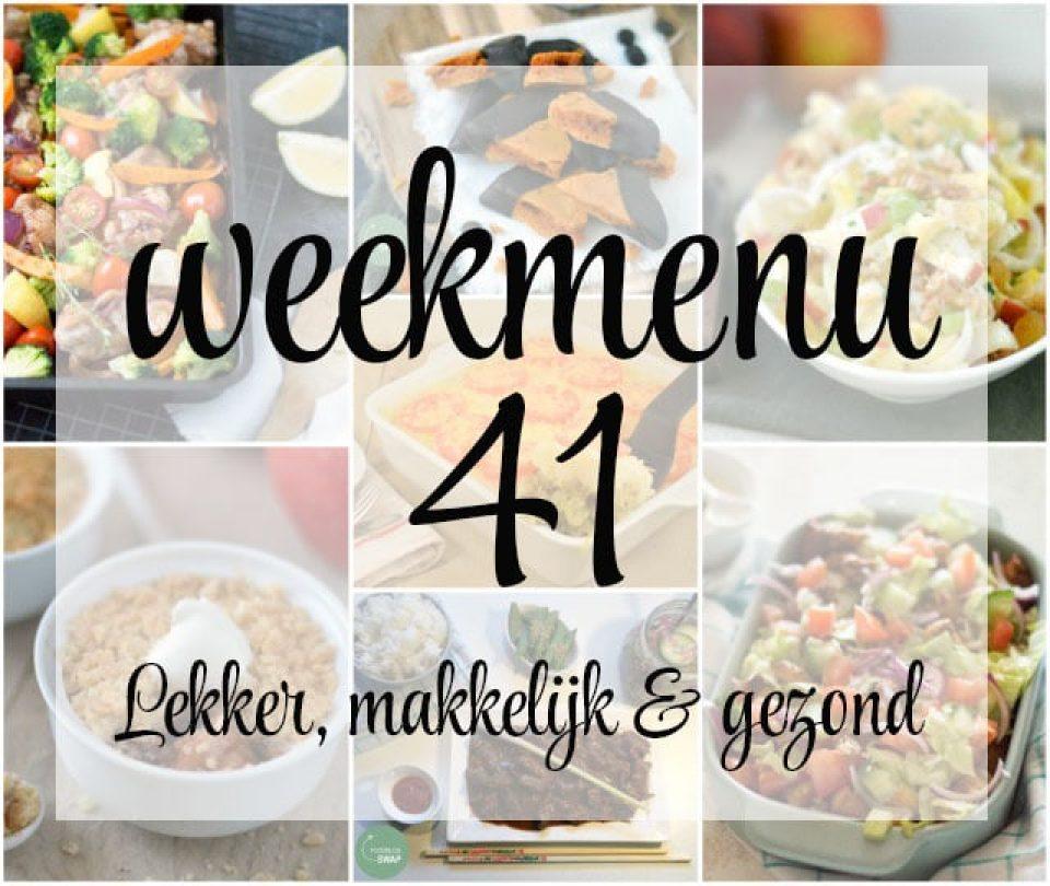 Lekker, makkelijk en gezond weekmenu – week 41