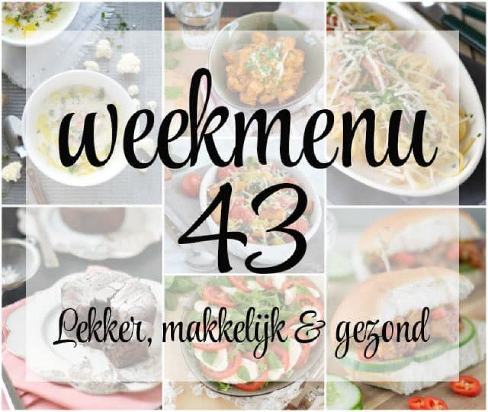 Lekker, makkelijk en gezond weekmenu – week 43